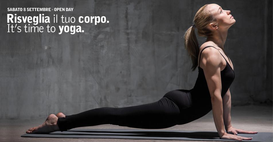 Risveglia il tuo corpo. It's time to yoga · Open day